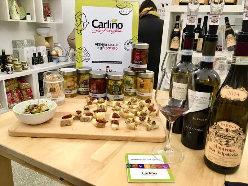 Da Wine & More assaggi di sottoli Carlino La famiglia